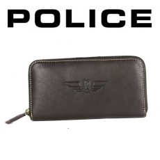 POLICE - PORTEFEUILLE DONNA GRAND FORMAT MARRON