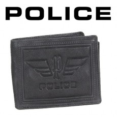 POLICE - PORTEFEUILLE PICCOLO 3 VOLETS CUIR NOIR