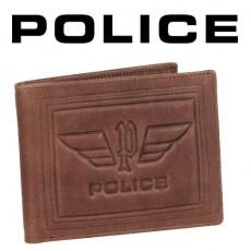 POLICE - PORTEFEUILLE PICCOLO 3 VOLETS CUIR MARRON