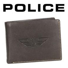 POLICE - PORTEFEUILLE UNIQUE UOMO 3 VOLETS CUIR NOIR