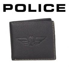 POLICE - PORTEFEUILLE UNIQUE PICCOLO 3 VOLETS CUIR NOIR