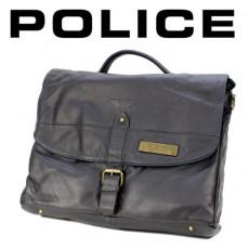POLICE – BESACE LIGNE UNIQUE PORTE DOCUMENTS NOIRE PB0597-01
