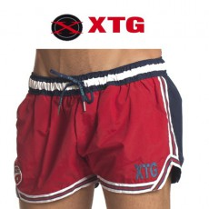 XTG - SHORT DE BAIN BI COLOR CHAMPION ROUGE