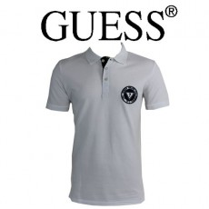 GUESS - POLO BLANC LOGO ROND