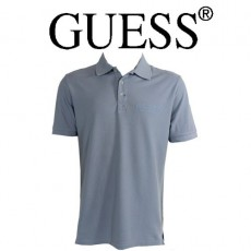 GUESS - POLO BLEU CIEL LOGO ORIGINAL