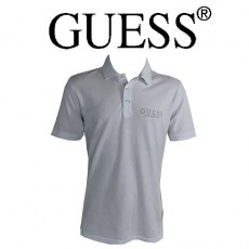 GUESS - POLO BLANC LOGO ORIGINAL