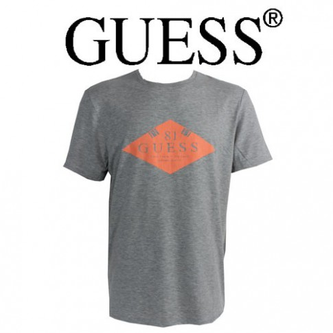 GUESS - T-SHIRT GRIS CHINE ORIGINAL