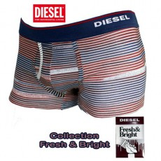 DIESEL - BOXER NAVY/BORDEAU A RAYURES FRESH & BRIGHT ANDRE MUTANDE