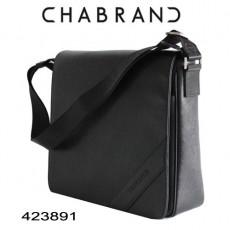 CHABRAND - GRANDE BESACE A RABAT CUIR NOIR LIGNE SOHO 423891