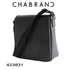 CHABRAND - BESACE A RABAT CUIR NOIR LIGNE SOHO 423831