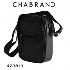 CHABRAND - PETITE BESACE REPORTER CUIR NOIR LIGNE SOHO 423811