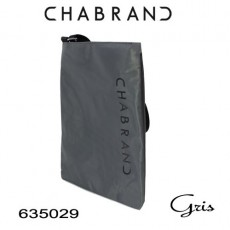 CHABRAND - PETITE BESACE NYLON GRIS LIGNE BRONX 635029