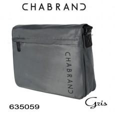 CHABRAND - GRANDE BESACE A RABAT NYLON GRIS LIGNE BRONX 635059