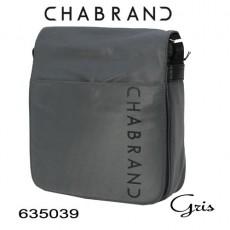 CHABRAND - PETITE BESACE A RABAT NYLON GRIS LIGNE BRONX 635039