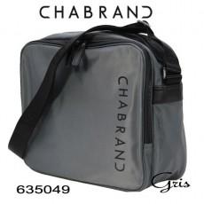 CHABRAND - GRANDE BESACE NYLON GRIS LIGNE BRONX 635049