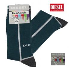 DIESEL - CHAUSSETTES VERT GRIS FRESH & BRIGHT