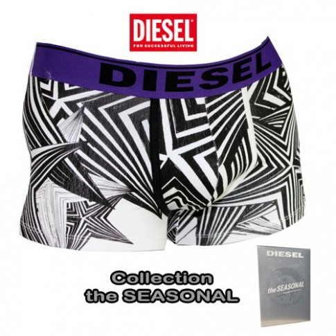 DIESEL - BOXER COTON THEM ALL BLANC NOIR VIOLET THE SEASONAL