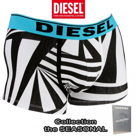 DIESEL - BOXER COTON THEM ALL BLANC NOIR TURQUOISE THE SEASONAL