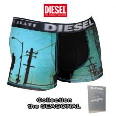 DIESEL - BOXER  DAMIEN PHOTOPRINT VERT  THE SEASONAL