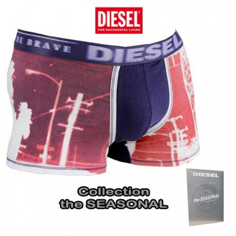 DIESEL - BOXER  DAMIEN PHOTOPRINT VIOLET  THE SEASONAL