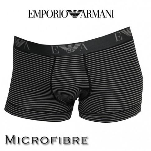 ARMANI - BOXER MICROFIBRE HOMME RAYE CARBONE 111389 3A553 04020