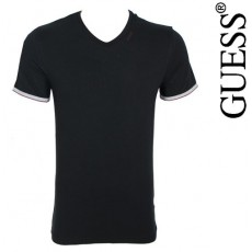 GUESS - T-SHIRT NEW SHINY NOIR