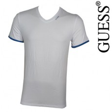 GUESS - T-SHIRT NEW SHINY BLANC