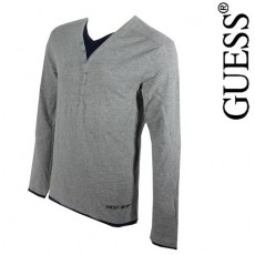 GUESS - T-SHIRT MANCHE LONGUE AMAZING MIX GRIS CHINE