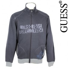GUESS - VESTE ZIPPEE GRISE MIX AND MATCH