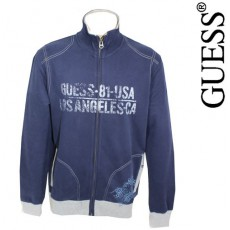 GUESS - VESTE ZIPPEE MARINE MIX AND MATCH