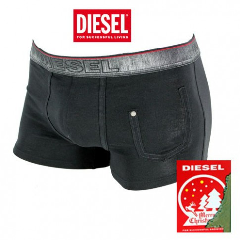 DIESEL -  BOXER COTON NOIR COLLECTION NOEL 2013