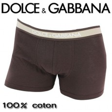 DOLCE&GABBANA - BOXER HOMME REGULAR MARRON