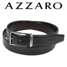 AZZARO - CEINTURE EN CUIR BOUCLE ARDILLON ASPECT NICKEL