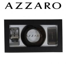 AZZARO - COFFRET CEINTURE 2 BOUCLES MODERNE ZCOF587 - 3,5 CM