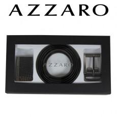 AZZARO - COFFRET CEINTURE 2 BOUCLES MODERNE ZCOF584 - 3,5 CM