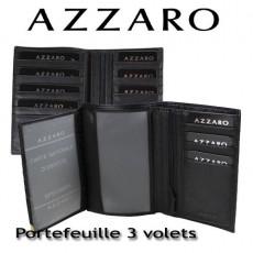 AZZARO - PORTEFEUILLE 3 VOLETS - LIGNE ELEGANTE