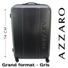 AZZARO - VALISE RIGIDE GRAND FORMAT - GRIS
