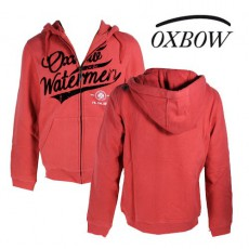 OXBOW - VESTE SWEAT SCRIPT ROUGE