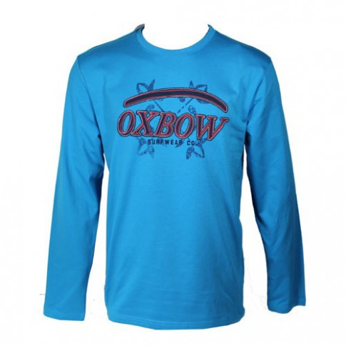 OXBOW - T-SHIRT MANCHE LONGUE BOLDLS TURQUOISE