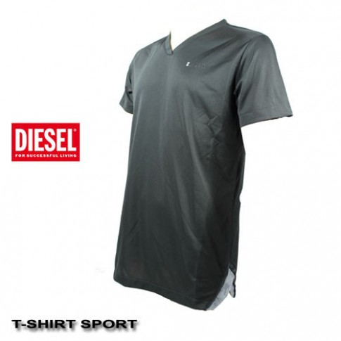 DIESEL -  TEE-SHIRT SPORT GRIS MAGLIA