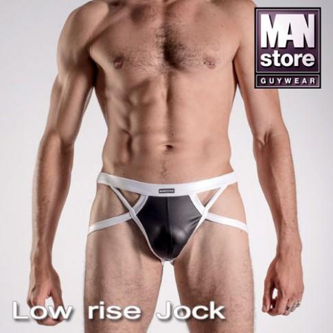 MANSTORE M316 LOW RISE JOCK MICROJERSEY NOIR