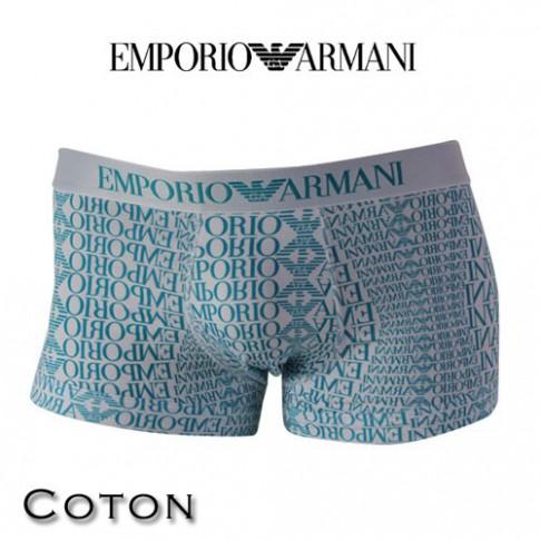 ARMANI - BOXER COTON LOGOTE BLANC 111389 4P508 13810