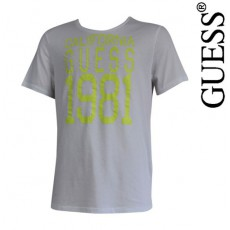 GUESS - T SHIRT PLAYFUL BLANC COL ROND