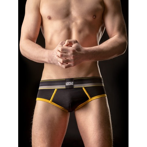 BARCODE - SLIP VICENTE ALL DAY NOIR / JAUNE