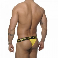 ES - UN056 STRING THONG BASIC JAUNE