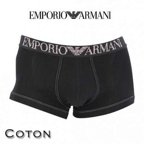 armani boxer homme parigamba coton noir 111866 4p540 00020. Black Bedroom Furniture Sets. Home Design Ideas