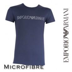 ARMANI - T-SHIRT MICROFIBRE COL ROND MARINE