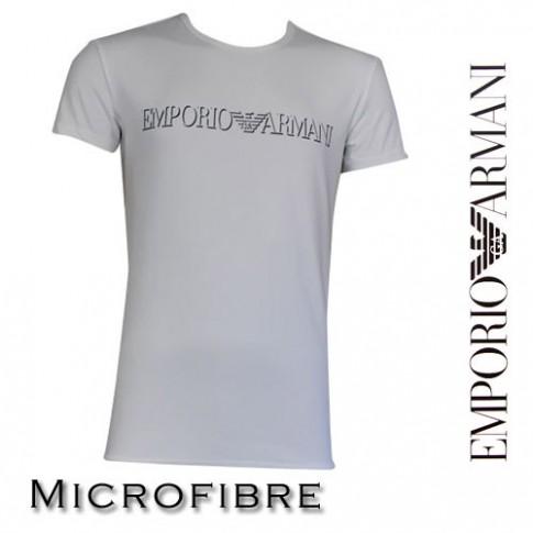 ARMANI - T-SHIRT MICROFIBRE COL ROND BLANC