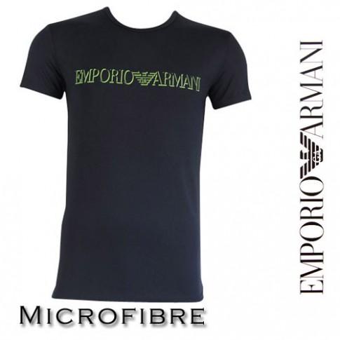 ARMANI - T-SHIRT MICROFIBRE COL ROND NOIR