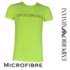 ARMANI - T-SHIRT MICROFIBRE COL ROND JAUNE FLUO
